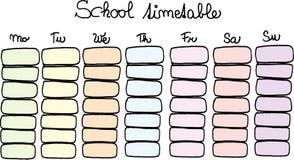 School timetable Royalty Free Stock Photos