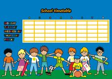 School timetable Stock Photos