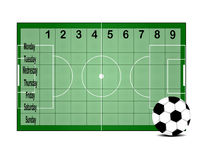 School timetable. Background of school timetable for students with football design Royalty Free Stock Photos