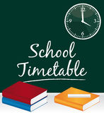 School timetable. Royalty Free Stock Image