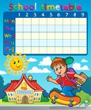 School timetable composition 7 Royalty Free Stock Photo