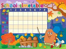 School timetable composition 3 Royalty Free Stock Photos