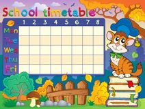 School timetable composition 4 royalty free stock photo