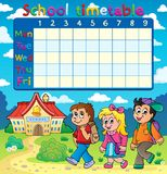 School timetable composition 5 Stock Photography