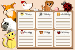 School timetable design Stock Images