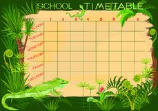 School timetable Stock Photography