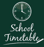 School timetable. Royalty Free Stock Photography