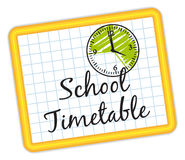 School timetable. illustration IV. Royalty Free Stock Photography