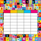 School timetable on letters background Royalty Free Stock Images