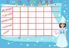 School timetable Stock Images