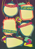School timetable Stock Photos