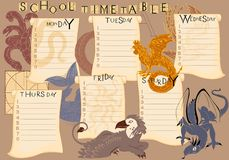 School timetable Royalty Free Stock Photo
