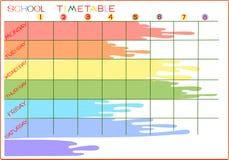 School timetable Stock Photo