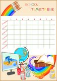 School timetable Royalty Free Stock Photography