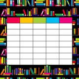 School timetable template with books for students and pupils Royalty Free Stock Images