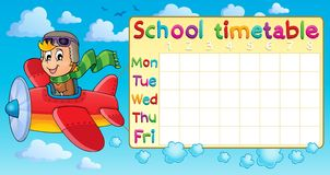 School timetable thematic image 1 Stock Images