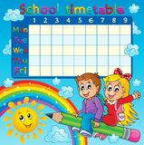 School timetable thematic image 2 Stock Images