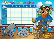 School timetable thematic image 3 Stock Image