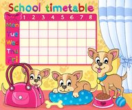 School timetable thematic image 5 Royalty Free Stock Images