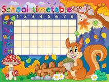 School timetable thematic image 6 Stock Photos