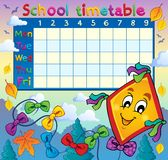 School timetable thematic image 8 Stock Image