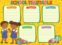 School timetable thematic image vector illustration. Royalty Free Stock Photos