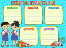 School timetable thematic image vector illustration. Stock Photo