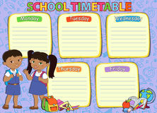 School timetable thematic image vector illustration. Stock Image