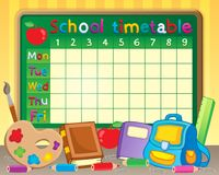 School timetable theme image 3 stock photography