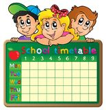 School timetable theme image 4 Stock Photography