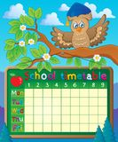 School timetable theme image 5 Royalty Free Stock Photography