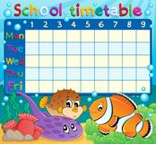 School timetable theme image 6 Royalty Free Stock Images