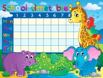 School timetable theme image 7 Royalty Free Stock Image