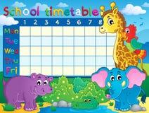 School timetable theme image 7 Royalty Free Stock Image