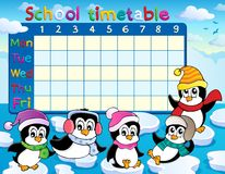 School timetable theme image 9 Stock Photos