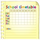 School timetable topic image 4 royalty free stock photography