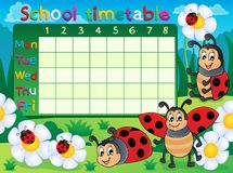 School timetable topic image 5 Stock Images