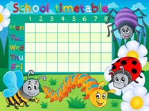 School timetable topic image 6 Stock Images