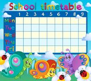 School timetable topic image 7 Stock Image