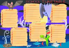 School timetable Royalty Free Stock Images