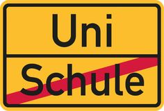 From school to university german. Vector Royalty Free Stock Image