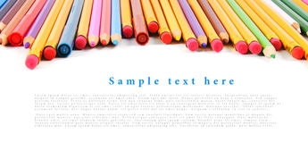 School tools and accessories on white background. Royalty Free Stock Photos