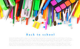 School tools and accessories . Stock Photos