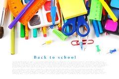School tools and accessories . Royalty Free Stock Photo
