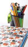 School tools and notebooks Royalty Free Stock Images