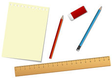 School tools and paper Stock Image