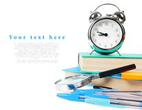 School tools on a white background. Stock Image