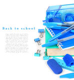 School tools on a white background. Royalty Free Stock Photography