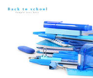 School tools on a white background. Royalty Free Stock Images