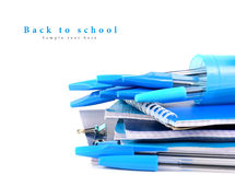 School tools on a white background. Stock Photos